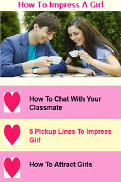 How to Impress a Girl poster