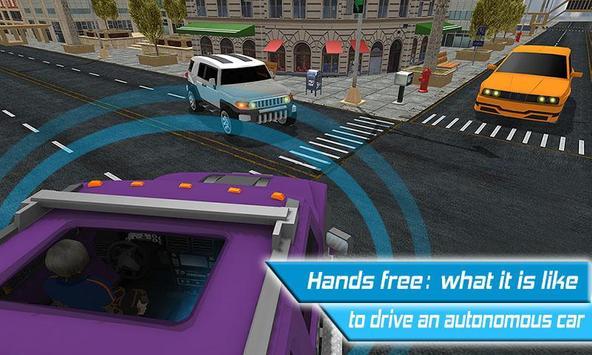 Driverless Car Driving Sim 3D screenshot 1