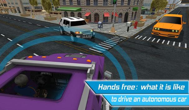 Driverless Car Driving Sim 3D screenshot 9