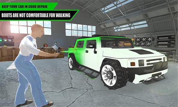 Hummer Car Mechanic 3D poster