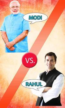 Vote For Modi or Rahul poster