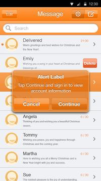 Sun Orange Theme-Messaging 6 apk screenshot