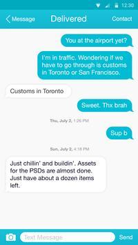 Acid Blue Theme-Messaging 7 screenshot 1