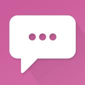 Fuchsia Theme-Messaging 7 icon