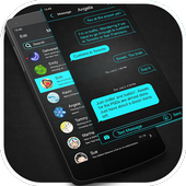 Neon Blue - Messaging 7 icon
