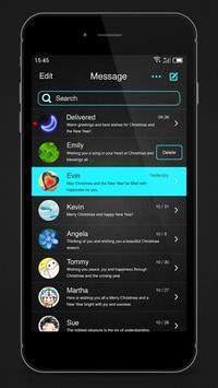 Neon Blue - Messaging 7 apk screenshot
