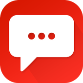 Red Color Theme-Messaging 7 icon