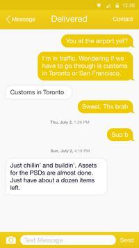 Yellow Color Theme-Messaging 7 apk screenshot
