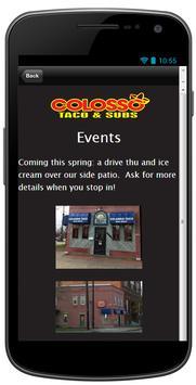 Colosso Taco & Subs screenshot 3