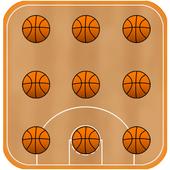 Basketball Pattern Lock icon