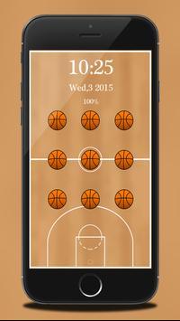 Basketball Pattern Lock poster