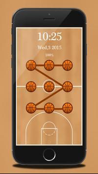 Basketball Pattern Lock apk screenshot