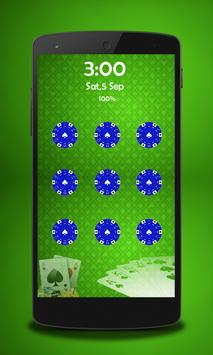 Poker Pattern Lock poster