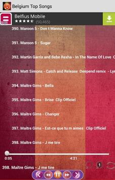 Belgium Top Songs screenshot 4