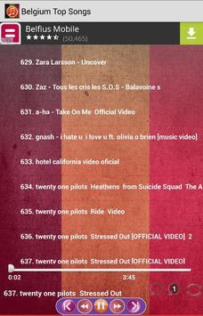 Belgium Top Songs screenshot 5