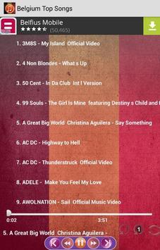 Belgium Top Songs screenshot 1