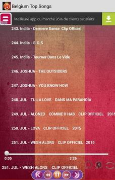 Belgium Top Songs screenshot 3
