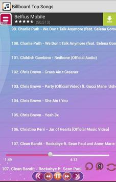 Billboard Top Songs screenshot 2