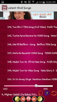 Latest Hindi Songs screenshot 5