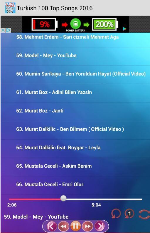 Turkish 100 Top Songs 2016 for Android - APK Download