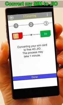 Convert My Sim To Jio Prank apk screenshot