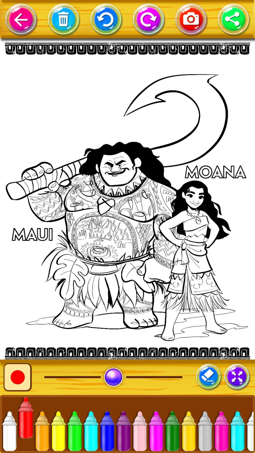 Moana Coloring Moana Princess Vaian For Android APK Download