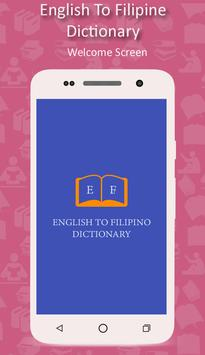 English To Filipino Dictionary poster