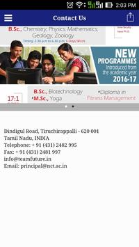 National College Trichy poster