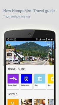 New Hampshire: Travel guide poster
