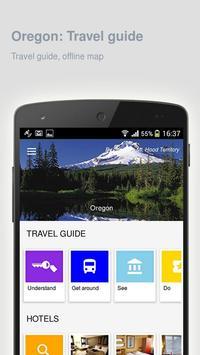 Oregon: Offline travel guide poster