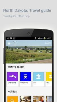 North Dakota: Travel guide poster