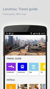 Lanzhou: Offline travel guide poster
