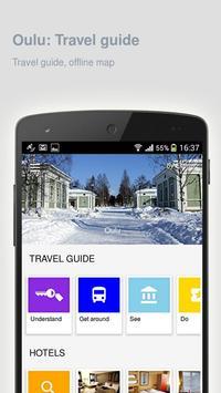 Oulu: Offline travel guide poster