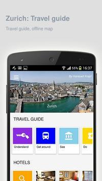 Zurich: Offline travel guide poster