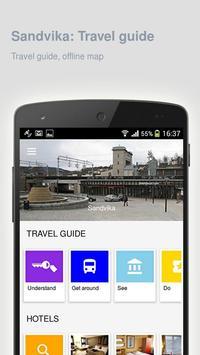 Sandvika: Offline travel guide poster