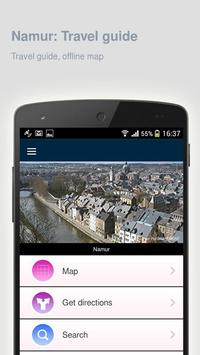 Namur: Offline travel guide poster
