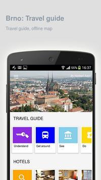 Brno: Offline travel guide poster