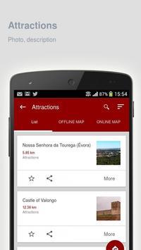 Evora: Offline travel guide apk screenshot