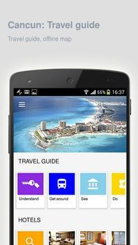 Cancun: Offline travel guide poster