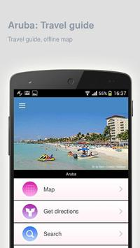 Aruba: Offline travel guide poster