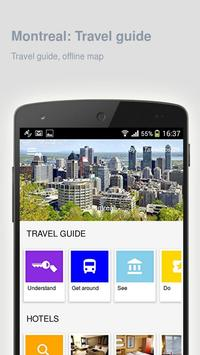 Montreal: Offline travel guide poster