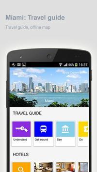 Miami: Offline travel guide poster