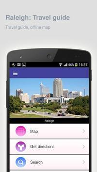 Raleigh: Offline travel guide apk screenshot