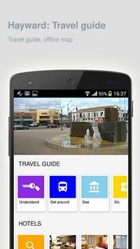 Hayward: Offline travel guide poster