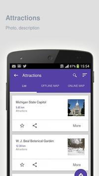 Lansing: Offline travel guide apk screenshot