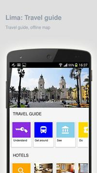 Lima: Offline travel guide poster