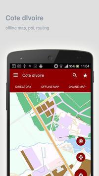 Cote dIvoire Map offline poster