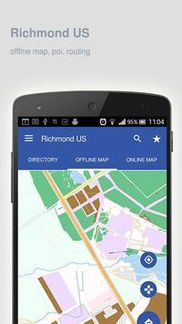 Richmond Map offline poster