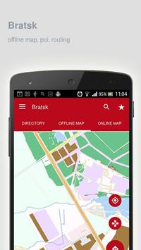 Bratsk Map offline poster