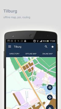 Tilburg Map offline poster